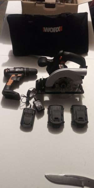 2 Worx 20 volt power tools for Sale in Modesto, CA