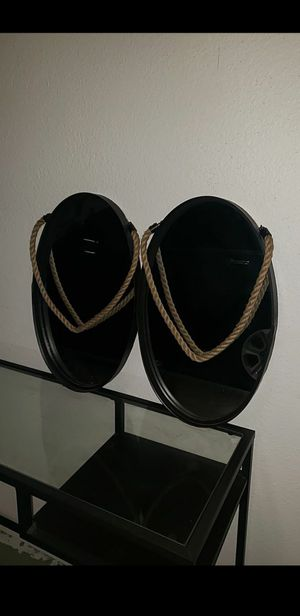 Oval mirror with jute rope for Sale in Phoenix, AZ