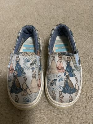 Toms Disney Cinderella toddler shoes size 6 for Sale in Rowlett, TX