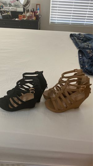 Wedges , size 6.5, worn once for Sale in Fort McDowell, AZ