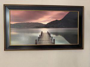 Kirkland's sitting on the dock framed print for Sale in Morgan Hill, CA