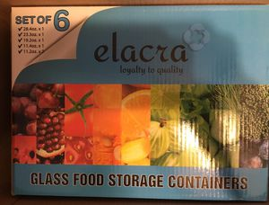 New glass good storage sets for Sale in Salem, SD