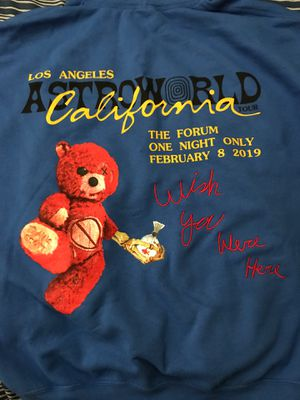 Travis Scott AstroWorld Blue Hoodie Brand New California Exclusive for Sale in Fullerton, CA