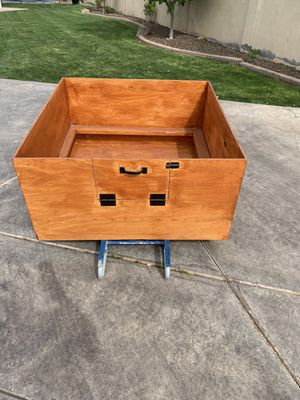 Welping box 4x4. Waterproof and solid. Complete with puppy rails and hinged door for Sale in Gilbert, AZ