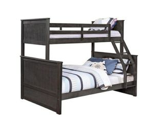 Columbus Day Special- [SPECIAL] Nora Charcoal Black Twin over Full Bunk Bed for Sale in Houston, TX