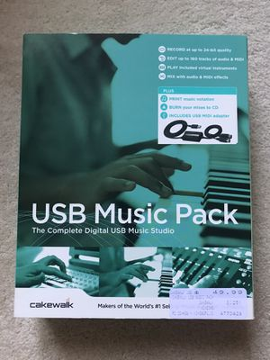 USB Music Pack- Music Software to record and write songs with usb&midi for Sale in Danville, CA