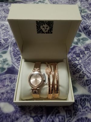 Anne Klein Watch and Bracelet Set for Sale in Benbrook, TX