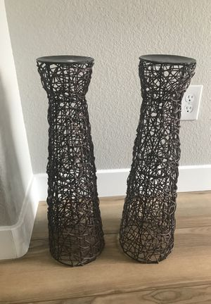 Two beautiful brown wired vases or candle holders for Sale in Las Vegas, NV