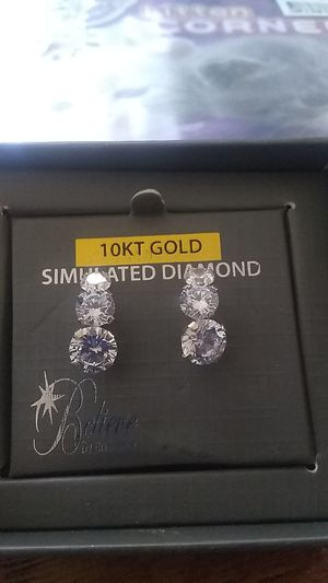 10 karat gold simulated diamonds for Sale in Spokane, WA