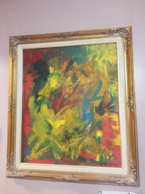 Abstract Oil Painting Healing Energy Art for Sale in Chicago, IL
