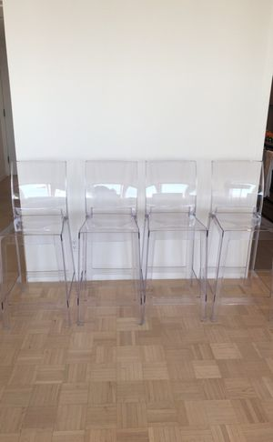 Acrylic bar stools - set of 4 for Sale in Brookline, MA