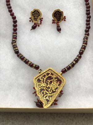Gorgeous dark red Garnett jewelry set! for Sale in Clarksburg, MD