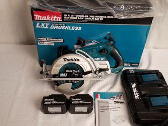 Makita 36V Brushless Rear Handed Circular Saw 18V x2 Kit Wormdrive 5.0Ah for Sale in Las Vegas,  NV