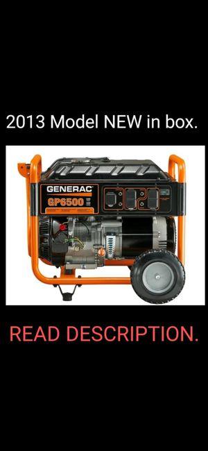 Generac GP6500 Generator BRAND NEW never been run. for Sale in Pemberton, NJ