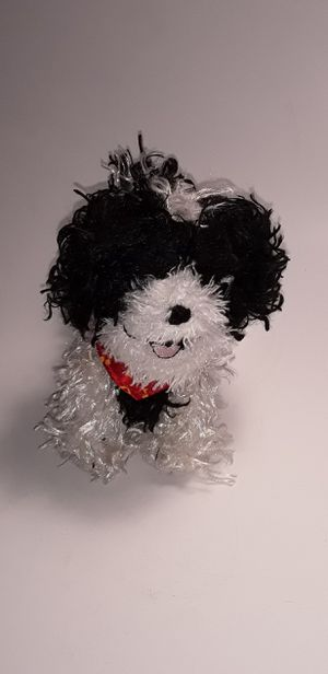 BLACK & WHITE PUPPY PLUSHIE for Sale in North Port, FL