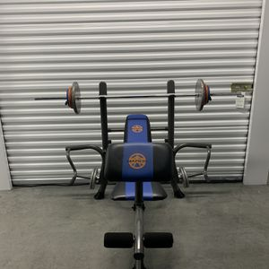 Marcy®️ Standard Benchpress w/ Standard Bar & Plates. for Sale in Portland, OR