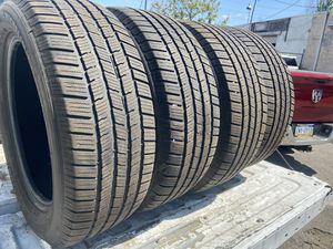 4 aused 245/55/19 Michelin defender LTX/MS tires for Sale in Philadelphia, PA