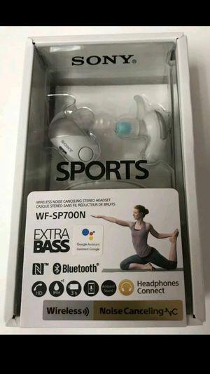 Sony WF-SP700N/WM Extra Bass Wireless Noise Canceling In-Ear Headphones, White for Sale in Portland, OR