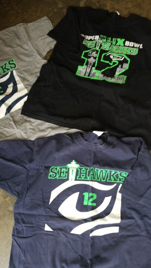 3 women's large Seattle Seahawks shirt size large all for $5 for Sale in Auburn, WA