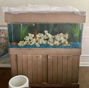 55 Gallon Aquarium, Cabinet, Filter, Led Bar Light, Holy Rock🔴 All Sold Separately. Prices listed below. for Sale in Westchester, IL