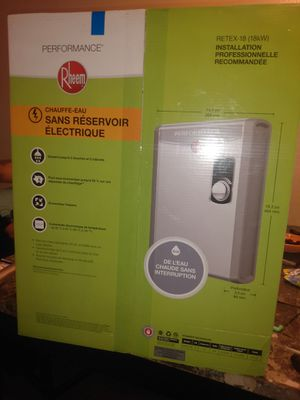 Rheem Electric Tankless Water heater for Sale in Fresno, CA