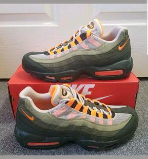 8d6b9750338 Men Women Nike Air Max 95 OG 2018 String Total Orange Neutral Olive Running Shoes  AT2865