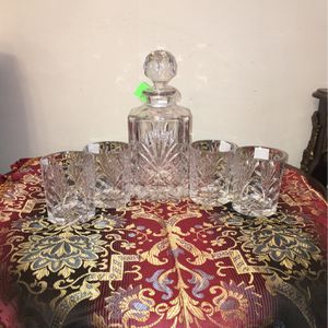 Led Crystal Decanter w/ Drinking Glasses for Sale in Chicago, IL