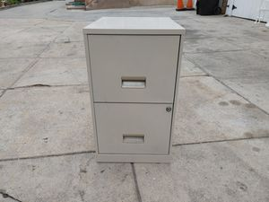 "2 drawer metal file cabinet in good condition 14"" wide. 18x24 for Sale in Alhambra, CA"