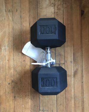 A single 100 lb Dumbbell for Sale in Lebanon, PA