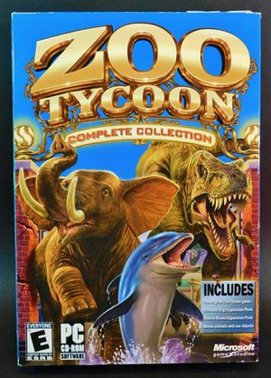 ZOO TYCOON⚡Brand NEW & Sealed w/ Certificate Complete Collection PC - Rare!! 🦁 for Sale in Tampa, FL