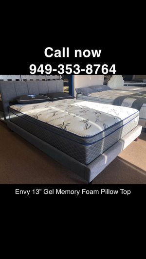 KING HYBRID COOL GEL MEMORY FOAM MATTRESS ❄️ PILLOW TOP ❄️10 YR WARRANTY MADE IN 🇺🇸 ALL SIZES AVAIL for Sale in San Juan Capistrano, CA