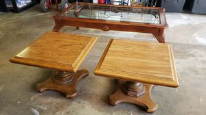 Hardwood End table Set. Good Condition for Sale in La Mesa, CA