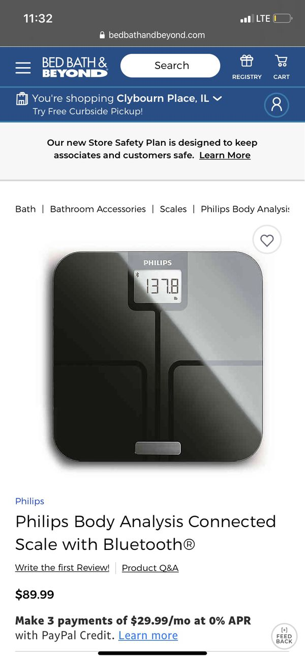 Philips Body Analysis Connected Scale with Bluetooth