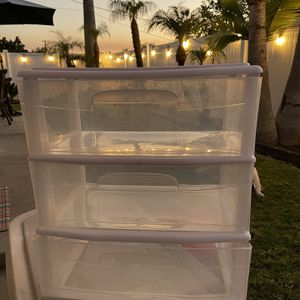 3 Drawer Wide Cart White - FREE MINT Condition for Sale in La Habra, CA