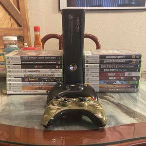 Microsoft Xbox 360 S 4GB Memory Black Console Bundle + 2 Controllers And 22 Games for Sale in Chula Vista, CA