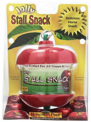 Horsemen's Pride Jolly Horse Stall Snack Feed Holder with Apple flavored refill for Sale in Las Vegas, NV