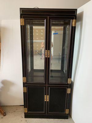 Glass Cabinet w/ storage for Sale in Cape Coral, FL
