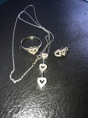 Matching 10k white gold set for Sale in Tyler, TX