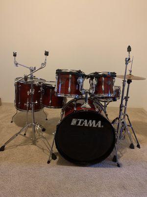 6 piece Tama RockStar Drum Set (wood Burt shells) for Sale in Atlanta, GA