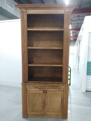 *NEW* Handmade Wooden Bookshelves w/ lower cabinets for Sale in New Orleans, LA