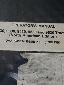 John Deer Operators Manual 9230 and_____ for Sale in Valparaiso,  IN