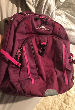 High Sierra dark pink backpack for Sale in Boston, MA