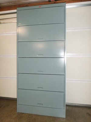 6 Drawer Lateral Side Tab Medical File Cabinet. Delivered. for Sale in Tacoma, WA