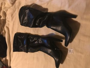 Christian Siriano sexy black slouch boots for Sale in Troy, MO