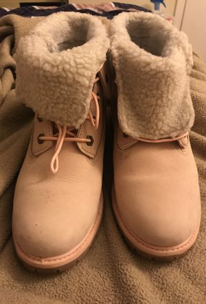 Light Pink Authentic Timberland Boots Size 7.5 for Sale in Manassas, VA