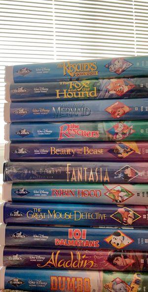 "Disney ""The Classics"" Black Diamond VHS and Original Star Wars Trilogy VHS for Sale in Ridgefield, WA"