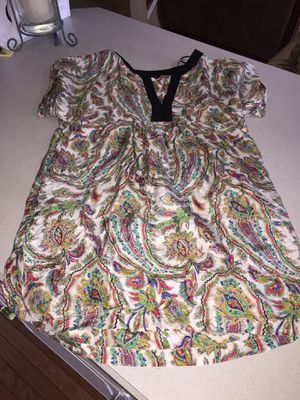 100% silk Zara woman tunic dress top with pockets size small S for Sale in Newtown Square, PA