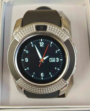 ♡♡BRAND NEW SILVER WATERPROOF SMARTWATCH BLUETOOTH OR SIMCARD FACTORY UNLOCKED CAMERA PEDOMETER♡♡ for Sale in Baltimore, MD