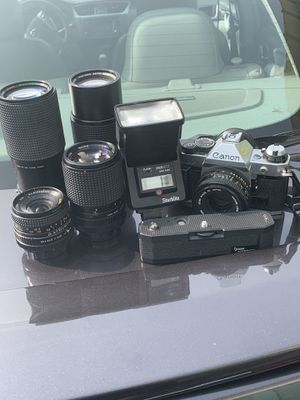 CanonAE1 program vintage 35 mm camera bundle for Sale in Hartford, CT