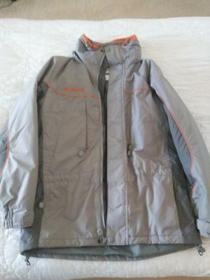 Columbia Mens Jacket Size Small with zipper and hoodie for Sale in Orlando, FL
